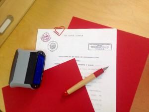 Traducción jurada lista para firmar y sellar.