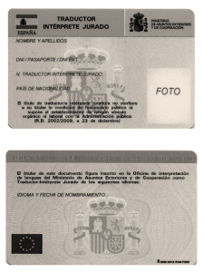 Nuevo carné de traductor-intérprete jurado