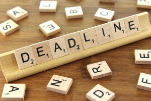 «Deadline» Fecha límite